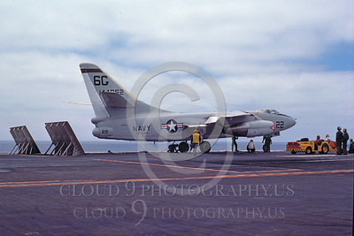 US Navy Douglas A-3 Skywarrior Airplane Aircraft Carrier Scene Pictures