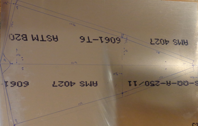 Dorsal Fin - Layout on 0.016 aluminum
