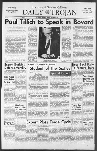 Daily Trojan, Vol. 54, No. 45, December 03, 1962