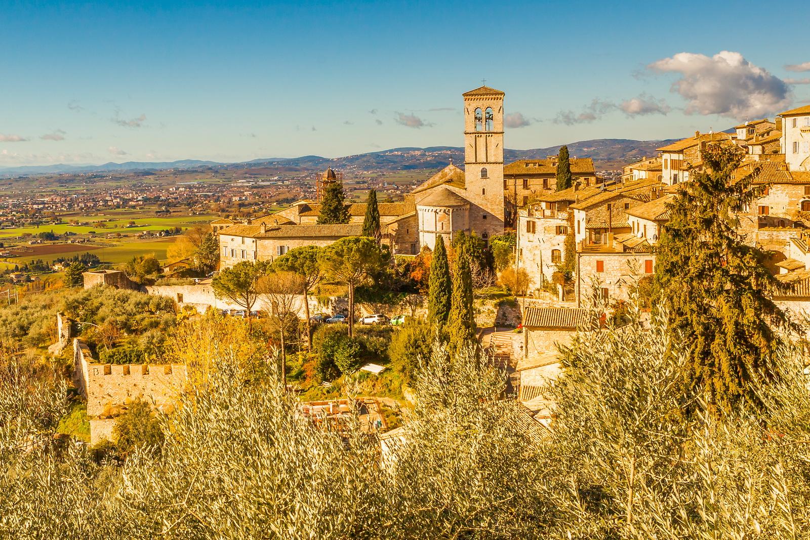 意大利阿西西(Assisi), 登高放眼