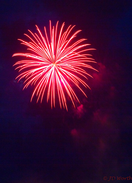 070417 Luray VA Downtown Fireworks - Peppermint Sea Urchin with Red Cloud Reflection-0896.jpg