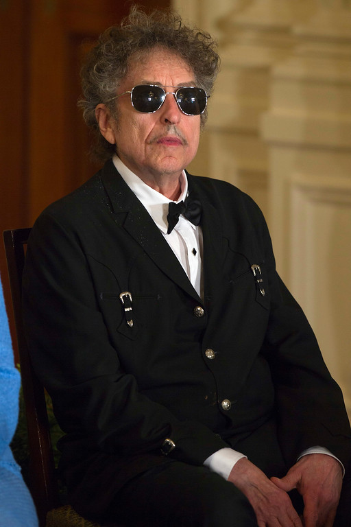 . Bob Dylan attends the Presidential Medal of Freedom ceremony in the East Room of the White House, Tuesday, May 29, 2012, in Washington. (AP Photo/Carolyn Kaster)