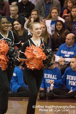 2/3/2018 Rockville HS at MCPS County Poms Championship Blair HS Division 1, Photos by Jeffrey Vogt Photography with Kyle Hall