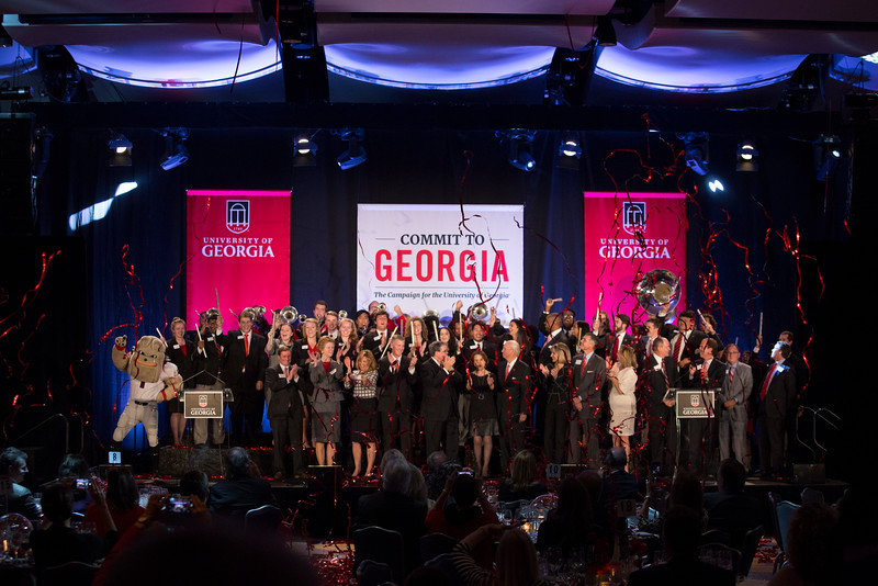 Description: Capital Campaign Atlanta Kickoff Event Goal Reveal Overhead