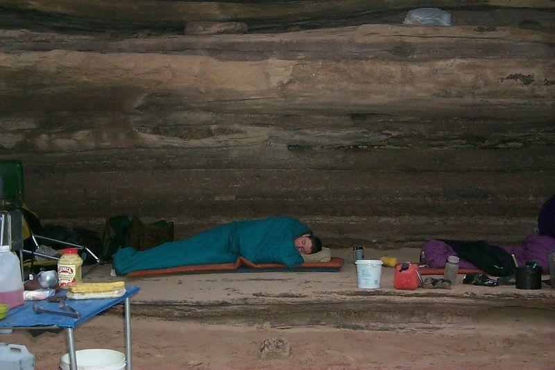 Alex Sleeping under Ledge   (Jun 05, 1999, 06:50am)