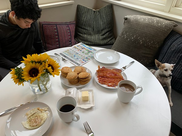 2019.10.27 Sunday breakfast & dinner
