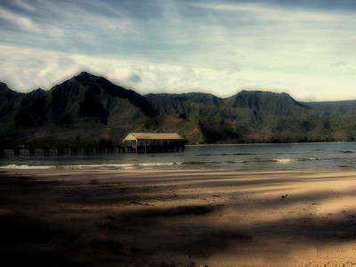 "Hanalei Pier | Setting for movie ""South Pacific"" 