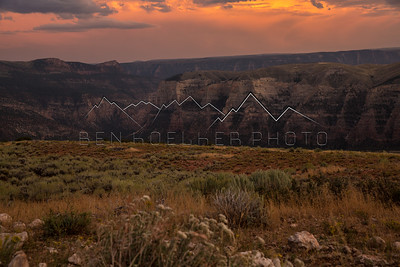 Jones Hole, UT at sunrise