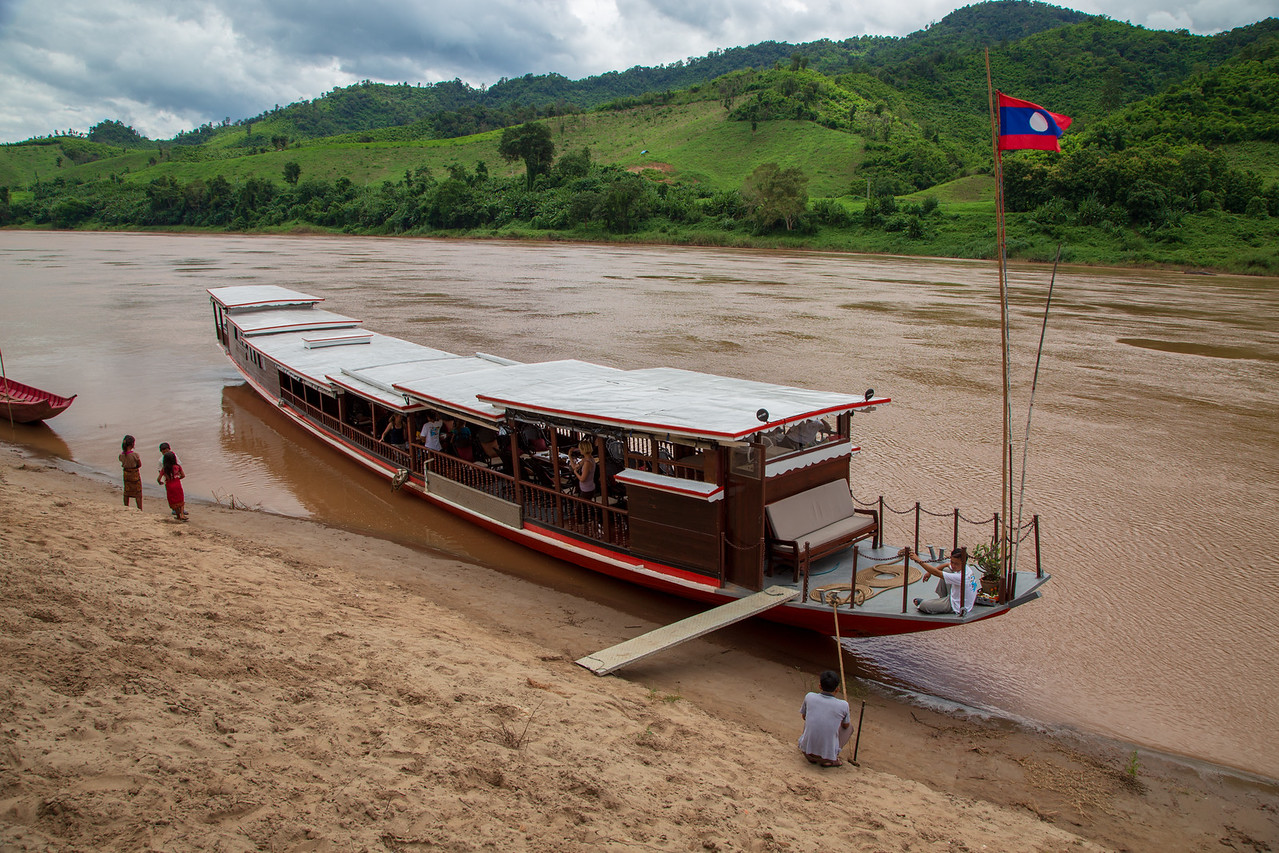Cruising the Mekong River in Northern Laos