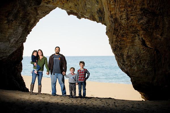 Rachael + Jason = Kai > Teo > Malia (Family Photography, Panther Beach, Santa Cruz, California)