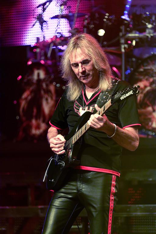 . Glenn Tipton of Judas Priest at The Fox on Oct. 19, 2014. Photo by Ken Settle