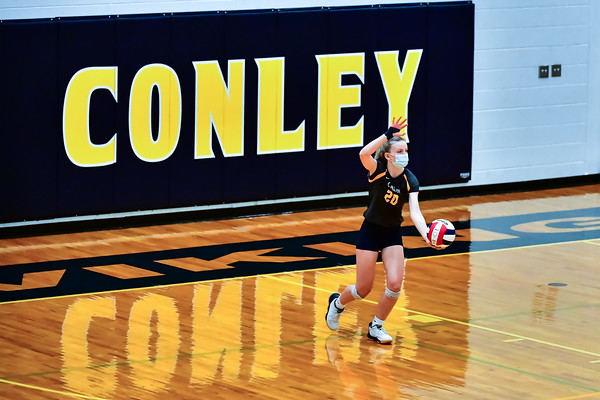 DH Conley volleyball vs JH Rose, 3A Eastern Regional Final, 1/19/21