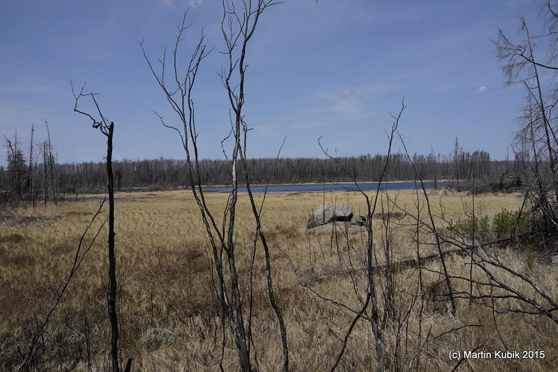 Marathon Lake.  Despite of many valiant attempts, we never found the campsite spot here.