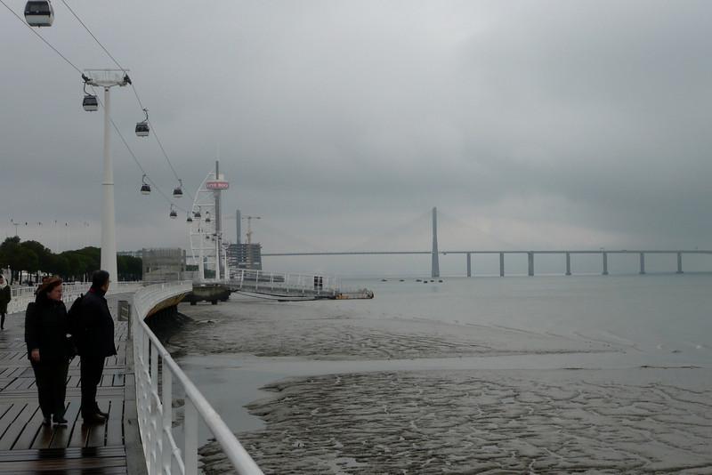 Teleférico and Ponte Vasco da Gama. Parque das Nações, Lisbon