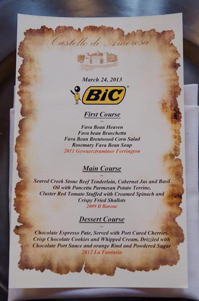 BIC Event 2013 (Castello di Amorosa)