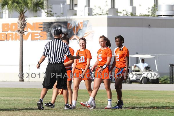Jacksonville Mandarin @ Boone Girls Varsity Flag Football Playoffs - 2012