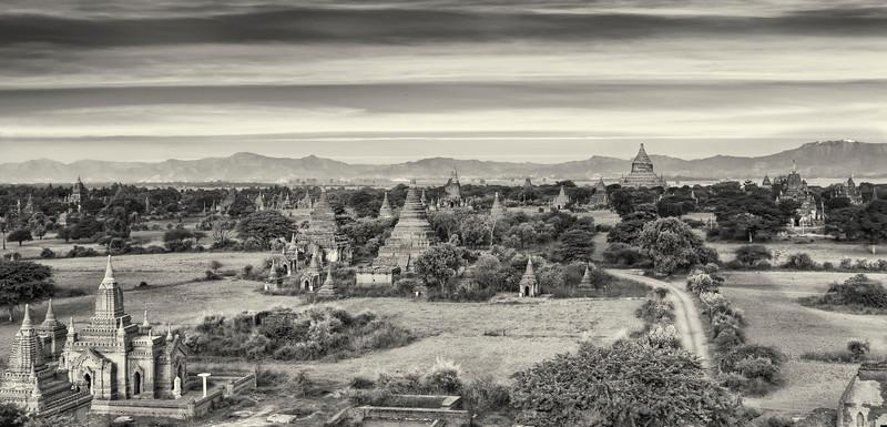 Sunset in Bagan.