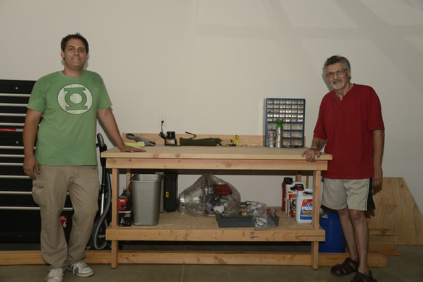 Dad & I Build My Workbench