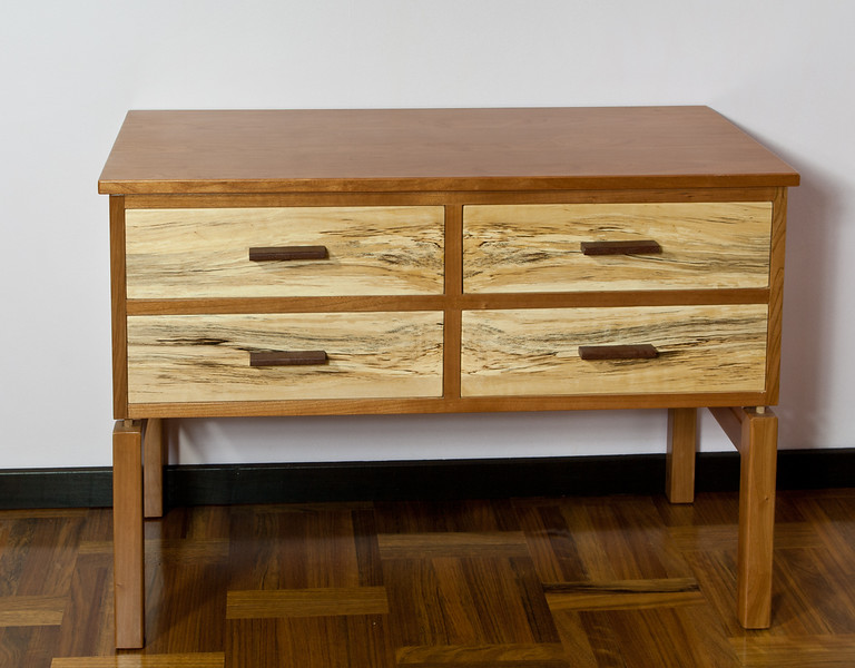 Sideboard in chery and spalted birch