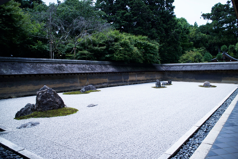 Zen Rock Garden at Ryoanji Temple