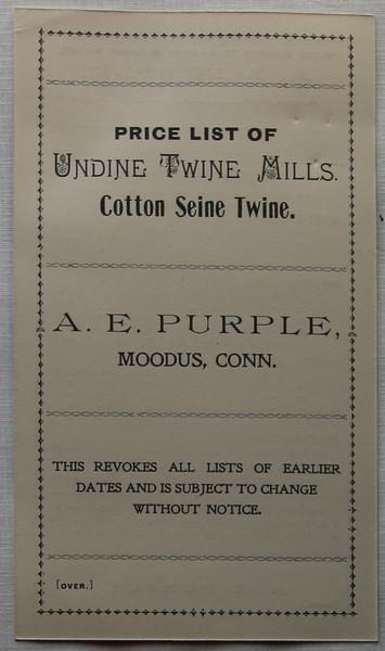 Undine Twine Mills