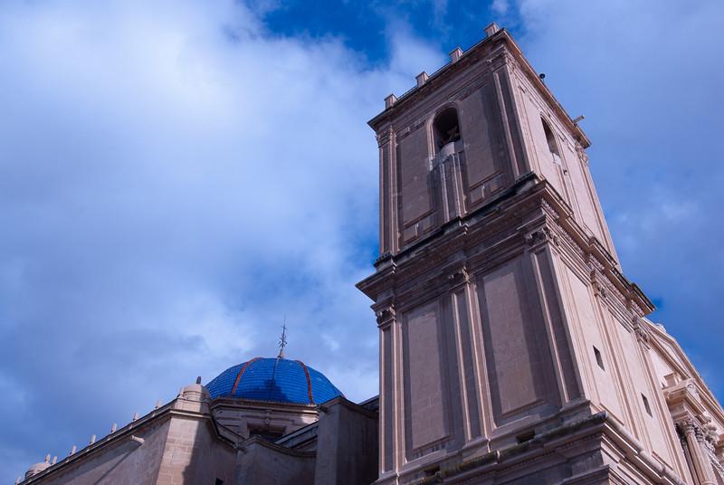 Basilica de Santa Maria and The Calaforra Tower in Elche, Spain