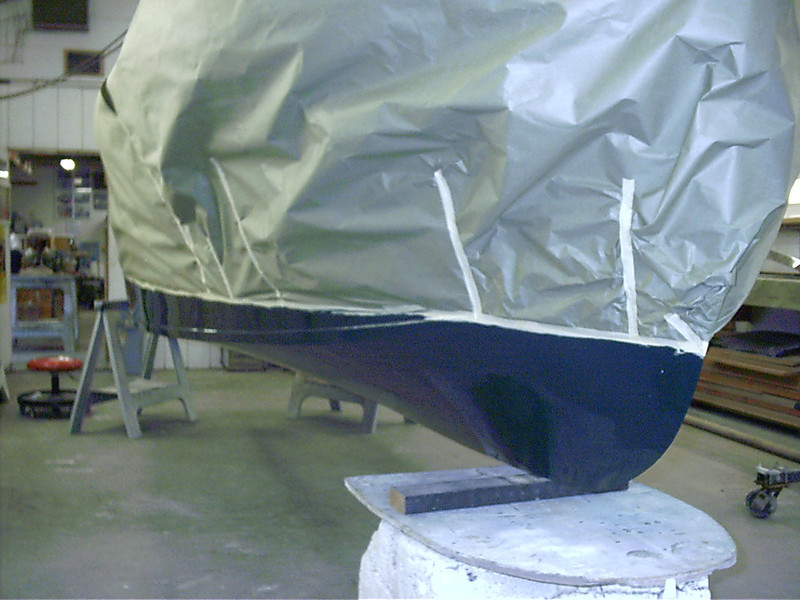 Front starboard view of bottom.