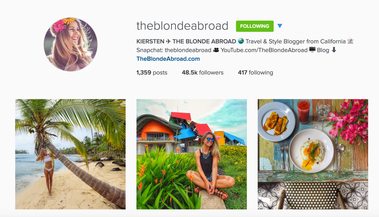 instagram photography for travel