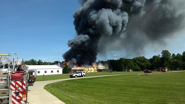 Fire at Hy Production in Liverpool Township