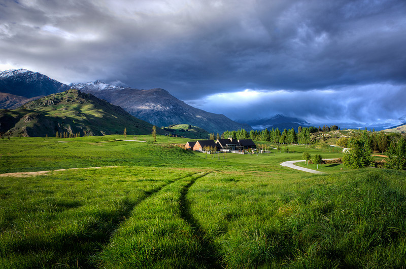 Storm Approaches the Home Through the Valley