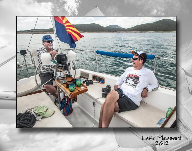 Ray & Paul enjoying the sailor's life.