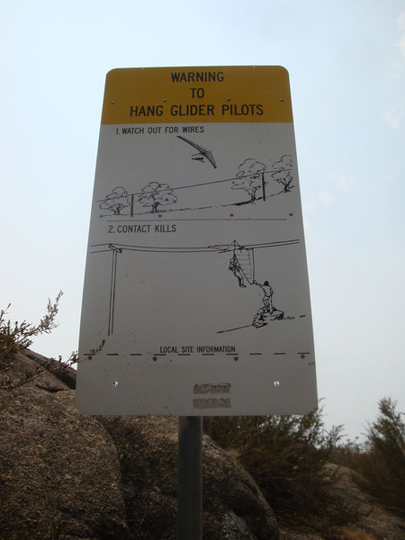 It's also a popular hang-gliding site.