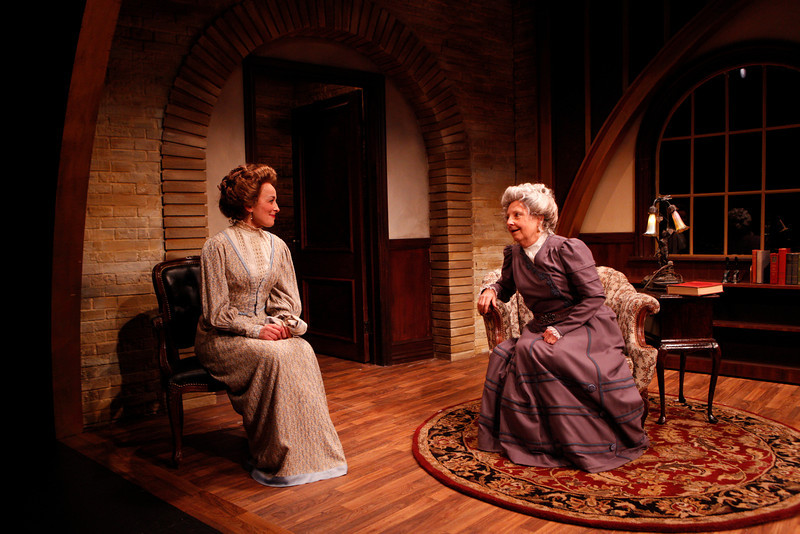 Birgit Huppuch and Mary Baird in WHAT THE PUBLIC WANTS by Arnold Bennett Photo: Richard Termine