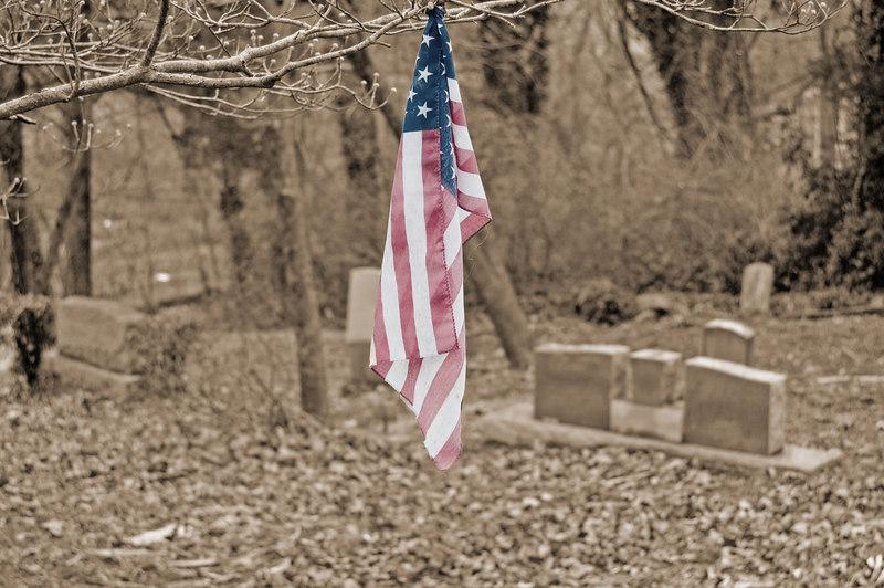 Flag with Gravestones