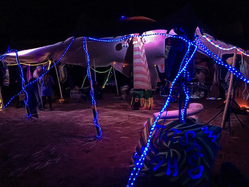 Blazing Swan 2017-Neon Tent #1