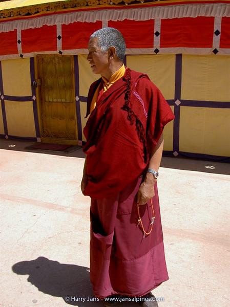 monk at the Potala Palace