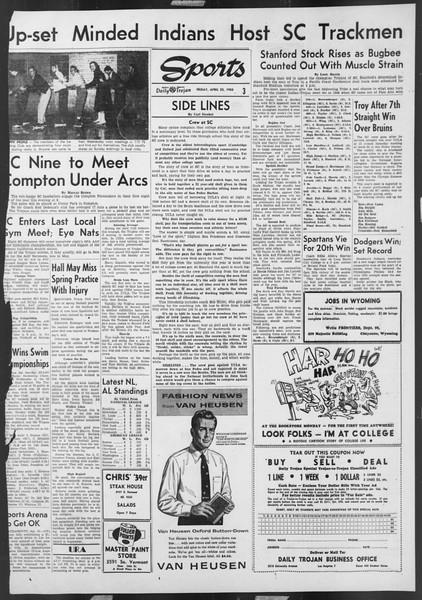 Daily Trojan, Vol. 46, No. 120, April 22, 1955