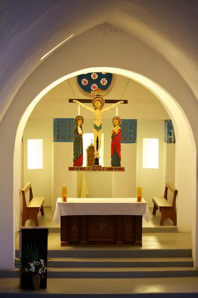 Sts. Peter and Paul Catholic Church, interior, Clarence Town, Long Island, Bahamas