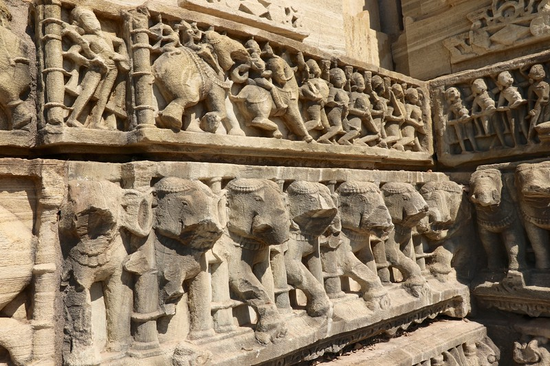More detailed carvings on the temples at Chittorgarh Fort