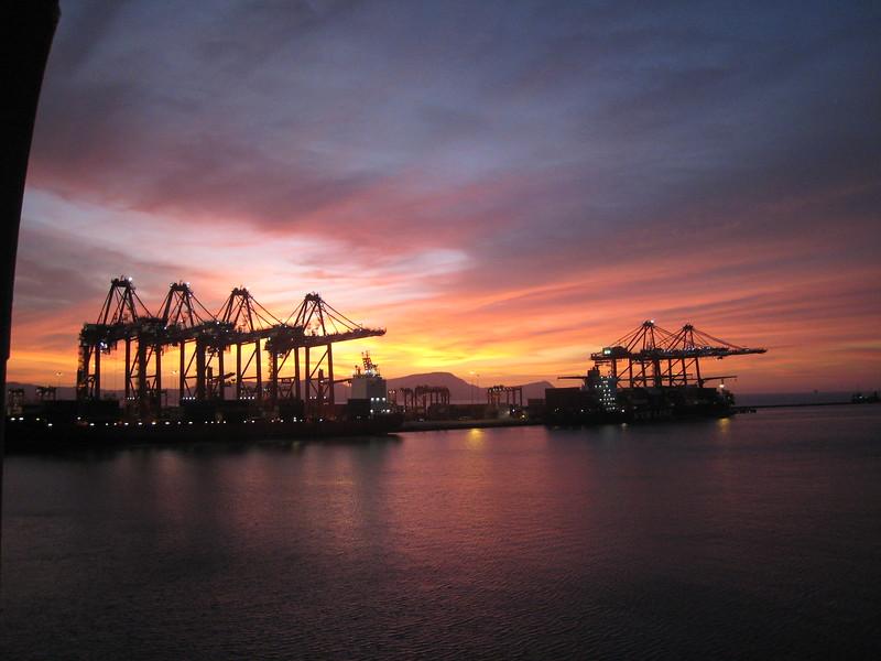 Sunset at the Port of Lima, Peru