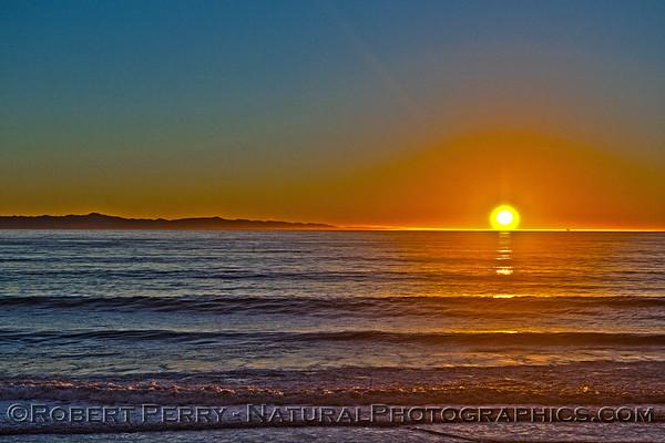 2014 12-22 Mussel Shoals - Sunset - King low tide