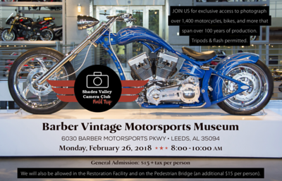 Barbers Motorsports Museum 2-26-18