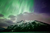 """Falling Skies"" I<br /> <br /> November 14th aurora at Lake Minnewanka, Banff National Park, Alberta, Canada."