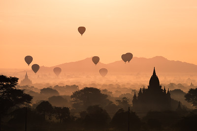 Bagan sunrise & sunset