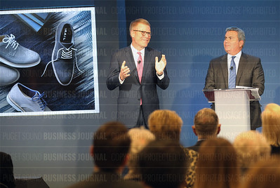 Co-President Nordstrom brothers attend annual shareholders meeting at flagship store in  Seattle, Washington