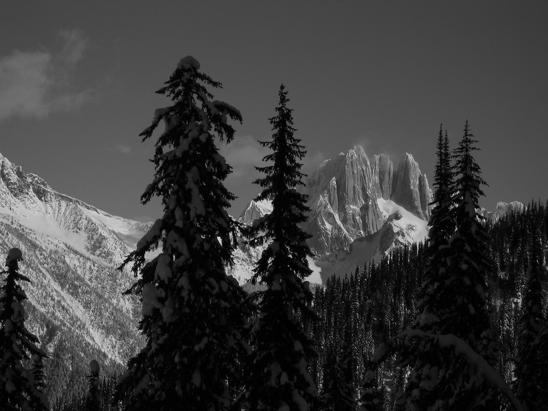 Howser Towers from Four Squatters, Bugaboos