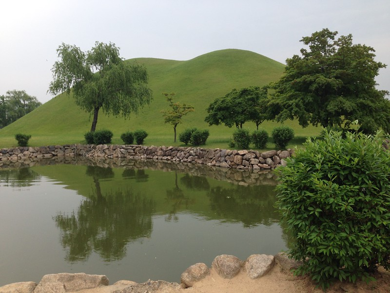 Burial mounds in Gyeongju, South Korea - Leslie Rowley S95