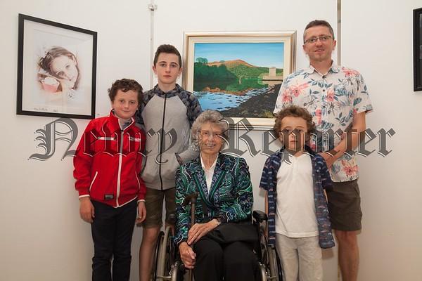 Mavis O'Connor pictured with Conor, Lorcan, Faichra and Fionn McGuinness. R1725012