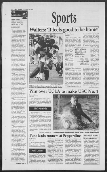 Daily Trojan, Vol. 129, No. 33, October 15, 1996