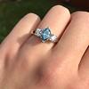 1.73ctw Blue Marquise Cut Diamond Trilogy Ring 19